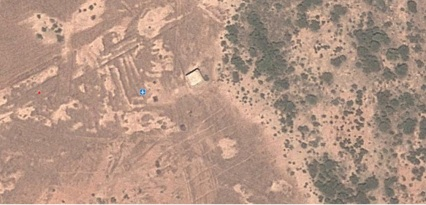 Une image satellite d'une piste d'atterrissage près de Gao au Nord-Mali