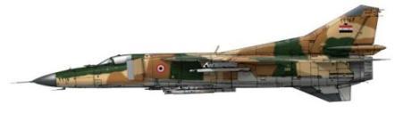 Une variante du Mig-23 aux couleurs de l'armée de l'air syrienne