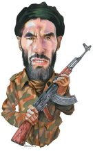 Caricature de Mokhtar Belmokhtar par James Ferguson, parue pour la première fois sur le New York Review of Books le 21 mars 2013