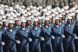 Pilotes de l'armée de l'air chinoise en parade.