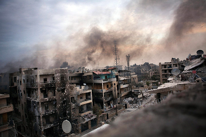 Bombs over Aleppo by Maysun