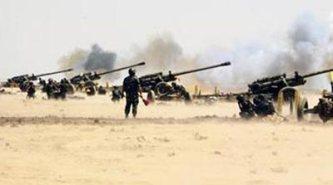 Artillerie syrienne autour d'Alep