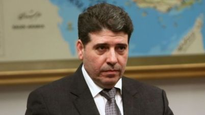 Le Premier ministre syrien Wael Al-Halki, en visite à Téhéran.