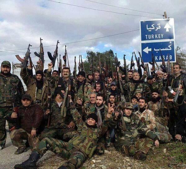armée syrienne vers la Turquie
