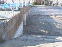canal d'irrigation d'eau au nord de Crimée à sec