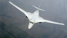 Bombardier stratégique russe à géométrie variable Tupolev Tu-160 (Code Otan: Blackjack)