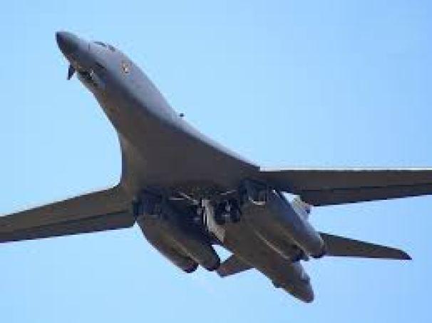 Le B-1 B Lancer est un bombardier stratégique à géométrie variable à long rayon d'action. C'est la première fois qu'un avion de ce type intervient en Syrie.