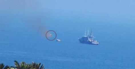 Un patrouilleur de la marine égyptienne a été la cible d'un missile antichar alors qu'il se trouvait à 2700 m du rivage de la partie égyptienne de la ville de Rafah.